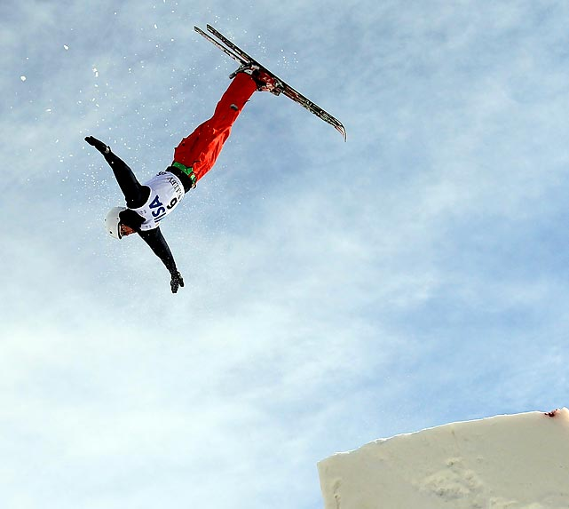 Russian skier Petr Mudulich trains ahead of a Freestyle World Cup event in Park City, Utah.