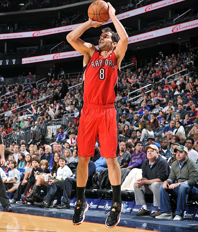 The Raptors signed Calderon as a 23-year-old free agent in 2005 after he had played six seasons in Spain. He's been Toronto's starting point guard more often than not ever since, offsetting his defensive weaknesses with offensive productivity. He's averaged at least eight assists in four seasons and is a career 48.2 percent shooter from the field.