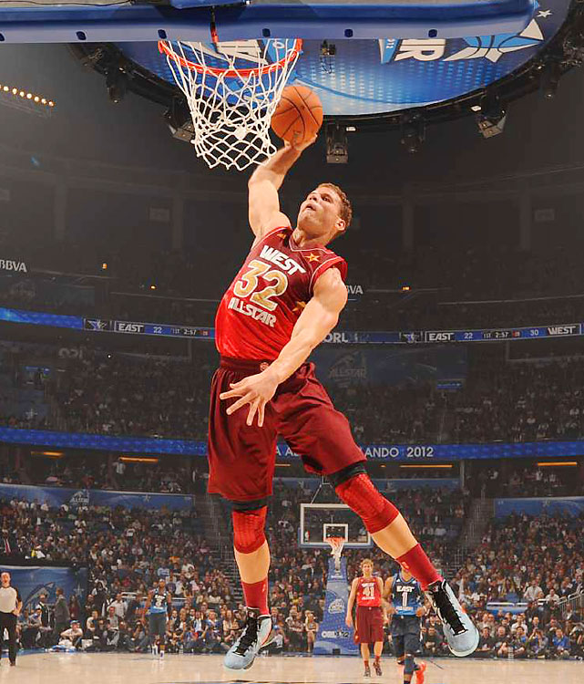 Blake Griffin rises to one of his many slams.