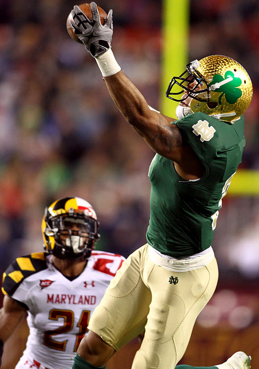Floyd opted to return to Notre Dame for his senior season and that choice is paying off for the big wide out.  He's a game controlling receiver and the go-to guy that cannot be stopped.  Floyd is not a field stretcher rather a large target that consistently comes away with the reception.