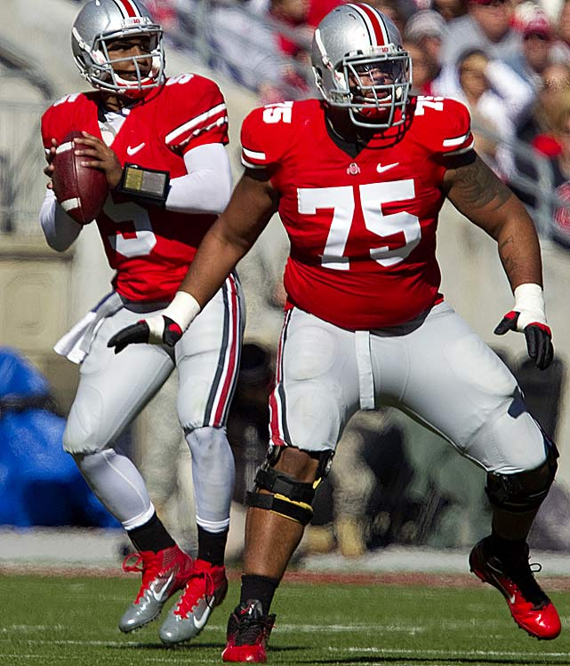Adams returned to the Buckeye line-up after missing seven games last season due to suspension then played inspired football.  He's a terrific pass protector at 330-pounds with the strength to overwhelm defenders when run blocking.