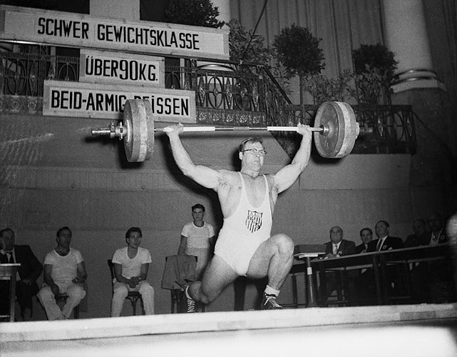 Schemansky won four Olympic medals over two weight classes from 1948 through 1964, missing the 1956 Games in between. In 1948, Schemansky clean and jerked 170 pounds as a heavyweight, winning silver. At the 2008 Olympics, the weakest heavyweight lifter clean and jerked 180 pounds. Of course, the definition of a heavyweight has changed drastically over the last 60 years.