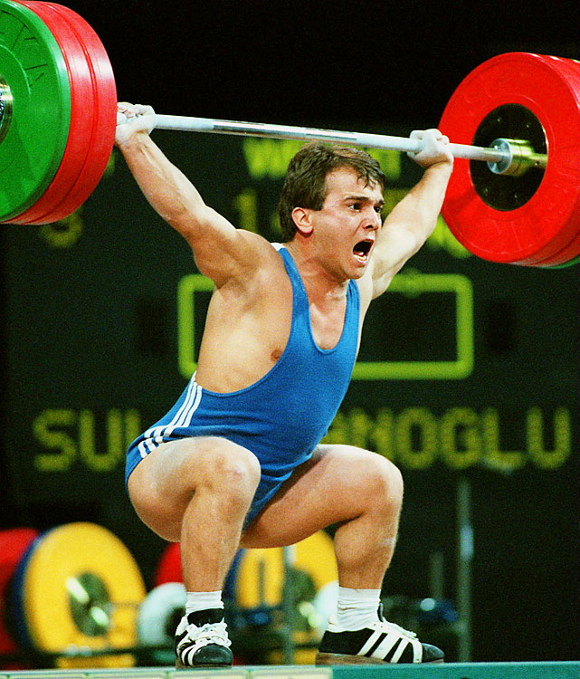 The great Pocket Hercules (Suleymanoglu is 4 feet, 10 inches) was the first three-time Olympic weightlifting champion -- 1988, 1992 and 1996.