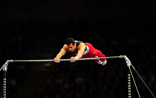 Trailing the leader entering his high bar routine, Danell Leyva needed a stellar performance to take the all-around title. ...