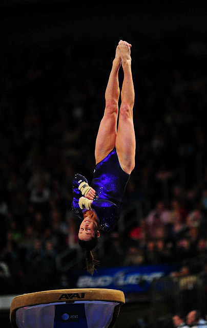 Jordyn Wieber began her gold-medal winning day with this 16.100 performance on the vault.
