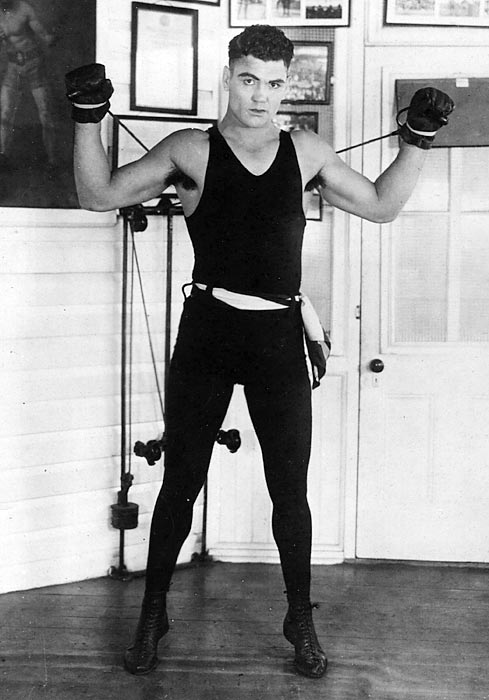 Heavyweight champion 1919-26. Pro record: 61 wins, 50 KOs, six losses, eight draws.