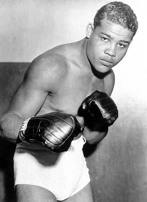 Heavyweight champion 1937-49. Pro record: 68 wins, 54 KOs, three losses.