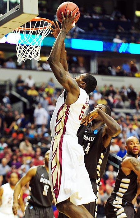 Florida State senior Bernard James led the third-seeded Seminoles' dramatic comeback win over upset-minded St. Bonaventure, scoring 19 points on 8-of-11 shooting to push FSU past the 14th-seeded Bonnies.