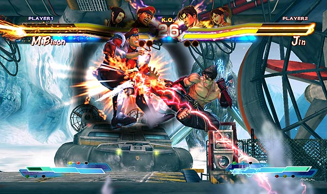 Street Fighter X Tekken is a love-or-hate kind of experience. Capcom brings the Street Fighter and Tekken worlds together in a tag-team style brawler that requires the reflexes of a mousetrap tester and the cognition of a heart surgeon. Seriously, there are flight simulators with less complexity than this game which is, ultimately, about cartoonishly exaggerated characters trying to beat each other up. The well-designed tutorial takes a solid half-hour to work through, teaching newcomers the ins-and-outs of EX Attacks, Super Arts moves, Cross Rush combos, Super Combos and Cross Assaults. Add in Gem modifiers that add different capabilities to your characters and you have a feast for hardcore fighting fans. And don't bother going online until you know what you're doing, because the humiliation will be immediate and constant. If that's your idea of a good time, welcome to your new favorite game.  Score: 8 out of 10