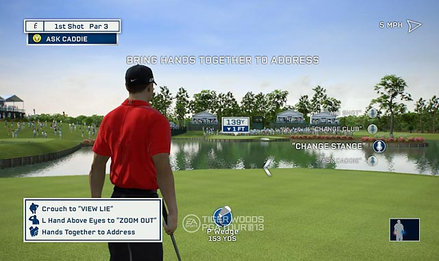 EA's golfing franchise returns with a few tricks in the bag, including a new swing system and enhanced Kinect integration. Playing with Kinect controls has pros and cons. The swing detection is suitably forgiving and generally tends to produce straight and powerful shots. The process for aiming or fine tuning your shot isn't nearly as accurate, responsive or fast as using a controller. The integration of voice commands via Kinect is nice, though you'll have to repeat yourself from time to time. Using the controller to swing has more of a learning curve when it comes to the direction and force with which you flick the left stick. The graphics are an improvement from last year's game, which looked pretty good.  In order to play many of the courses featured in the game you'll either need to collect enough in-game points by beating challenges or you'll need to pay for essentially rented rounds via downloadable access. Not being able to buy them for unlimited use with a one-time purchase or including them with the asking price of the game feels onerous.   One place to collect those points is the new Tiger Legacy Challenge. This mode is a series of challenges based on Tiger's life starting with two-year Tiger chipping into a net and working up through the Tiger Slam and beyond. The mode is interesting as a timeline of Tiger's amazing career but the navigation and restarts when you don't succeed can get annoying.  Score: 7 out of 10