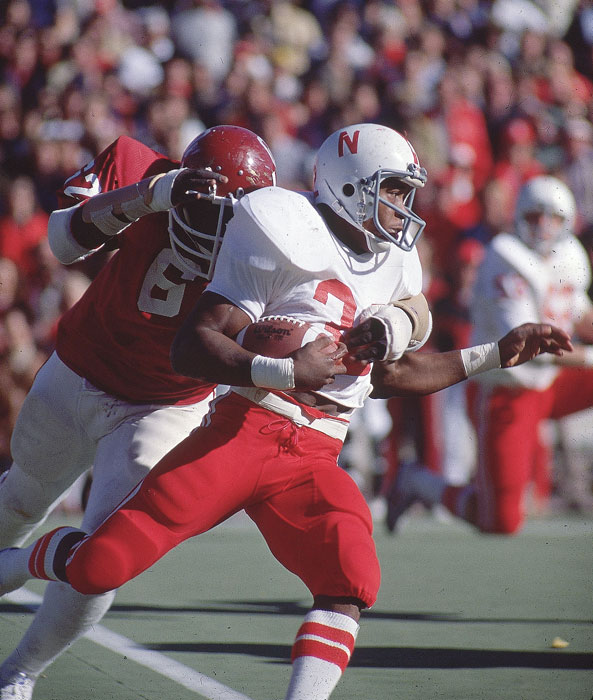 The former Nebraska Husker was inducted into the school's hall of fame in 1995 and was a fourth-round draft pick by the Falcons in 1980.