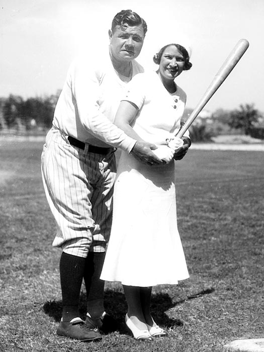 Babe Ruth and his wife Claire pose in St. Petersburgh, Fla.