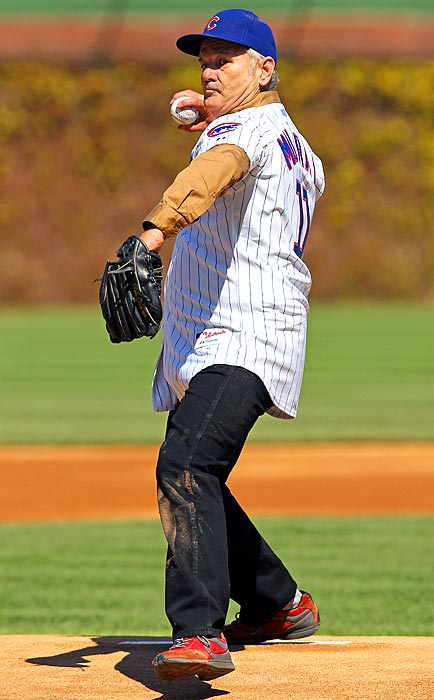 Actor Bill Murray performed the opening day pitch at Wrigley Field.