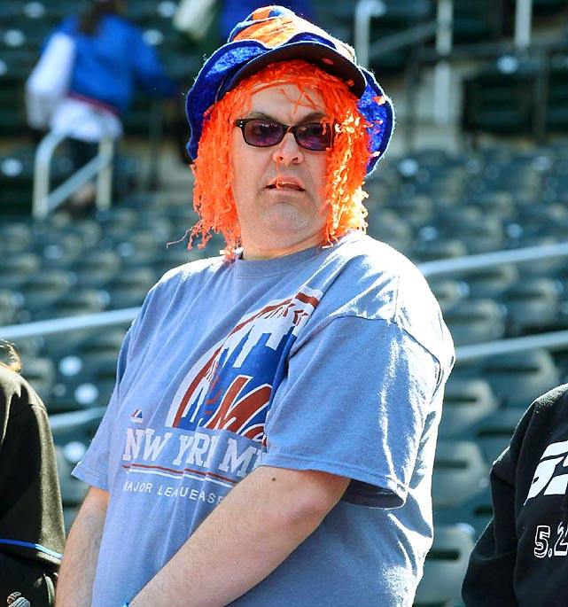 New York Mets fan at Citi Field.  Queens, NY.