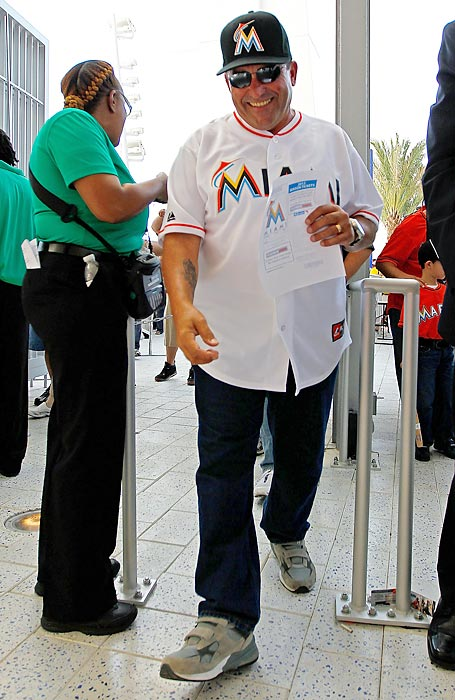 The game marked the opening of Marlins Park in Miami.