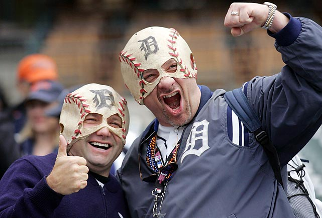 Detroit Tigers fans before the game against the Boston Red Sox in Detroit.