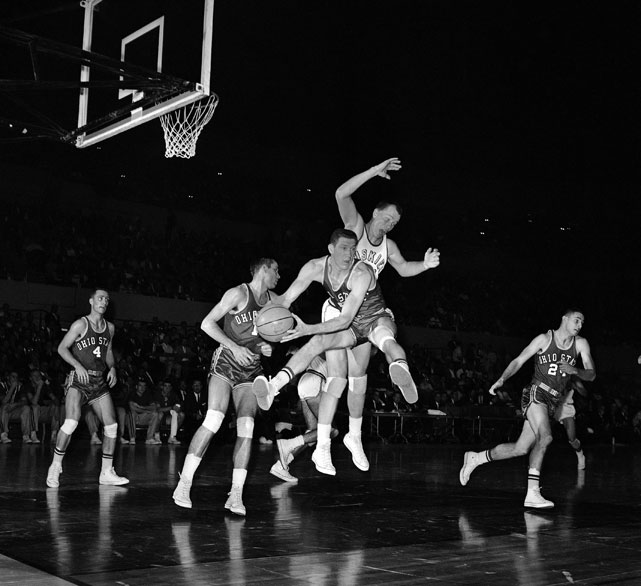 One of the Buckeyes other stars was John Havlicek. The guard averaged 15 points in his four college seasons and was a sharp passer and tenacious defender. He would later win seven championships as a Boston Celtic.