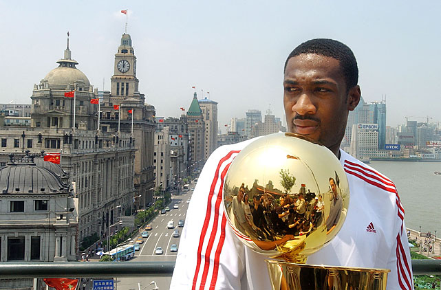 He has never won an NBA title. But he got to carry the trophy around Shanghai ahead of the 2004 Finals.