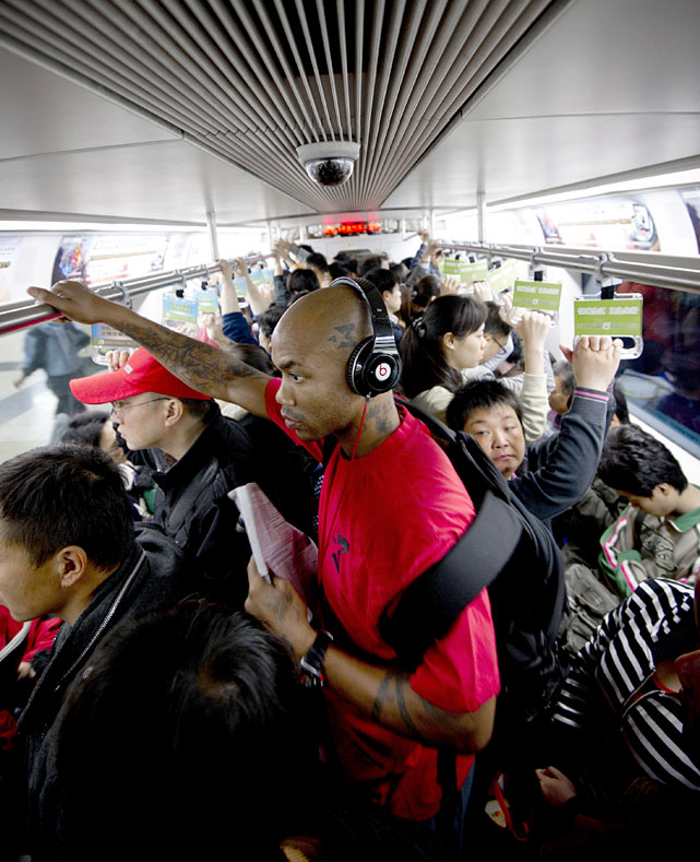 Since joining the Beijing Ducks last year, Stephon Marbury has completely transformed his image in China by availing himself to the public. Here, Marbury takes the 1 train from the hotel where he lives to the team's practice facility.
