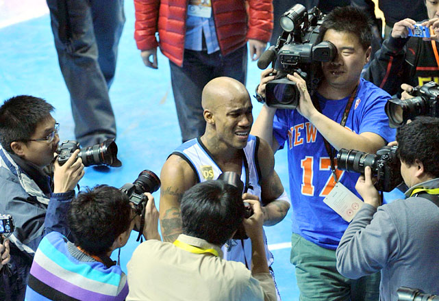 Marbury openly wept after Beijing defeated Shanxi on March 18 to advance to the CBA Finals for the first time in franchise history.