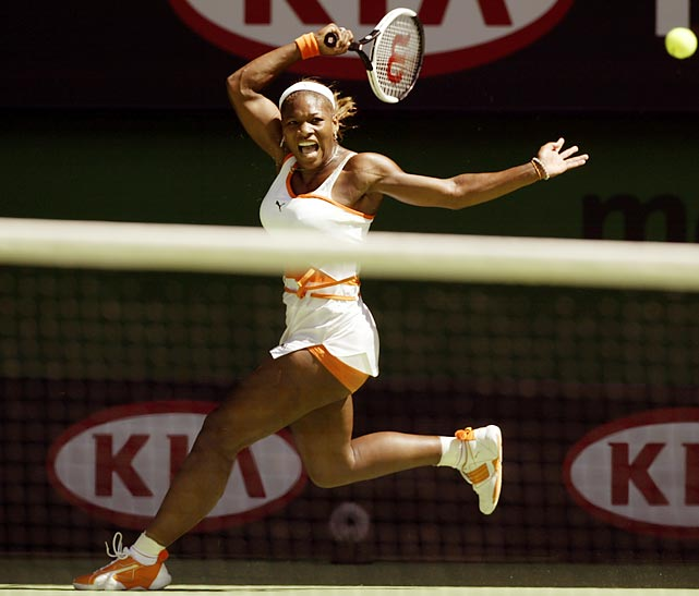 Serena fought through a tough Australian Open final against older sister Venus to grab her first title of 2003, then reeled off 14 straight wins. In Serena's best career start to a season, she beat top-caliber players such as Venus, Kim Clijsters, Jennifer Capriati and Lindsay Davenport. Her streak was stopped when Justine Henin, then ranked No. 4, took her down in Charleston.