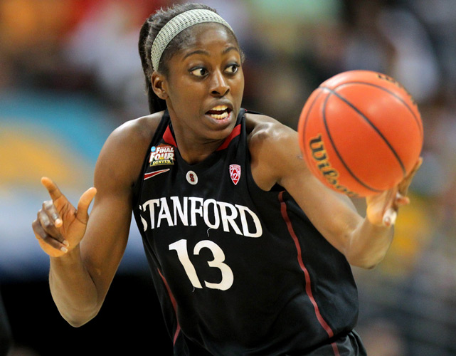 Chiney Ogwumike scored just four points before fouling out in Stanford's disappointing loss. The Cardinal has made the Final Four five straight years but hasn't won a title in two decades.