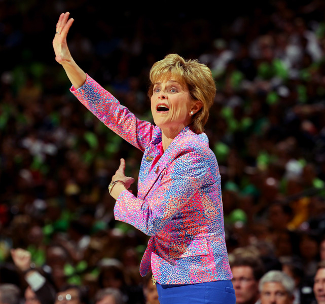 Kim Mulkey, who was diagnosed with Bell's palsy earlier this week, guided Baylor to its 39th straight win Sunday.