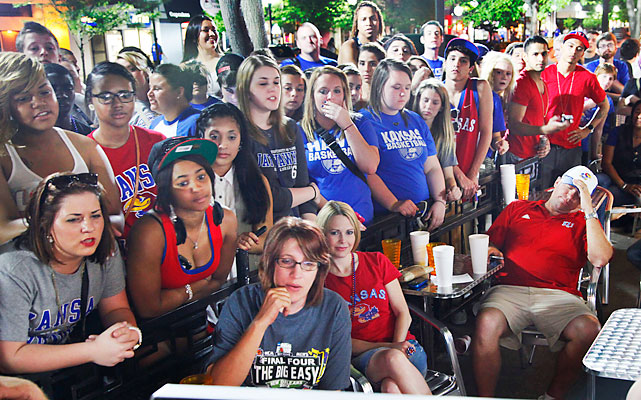 The mood in Lawrence, Kan., was one of dejection as the final seconds ticked away.