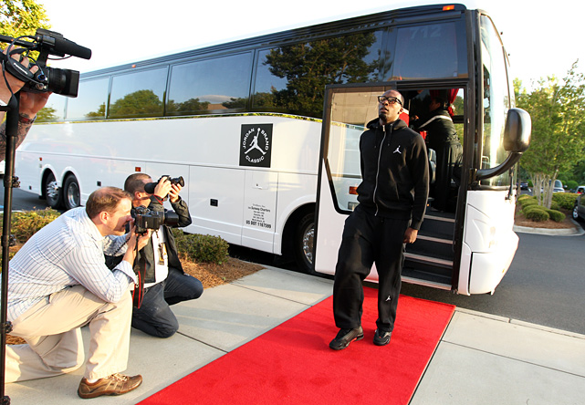 The 11th annual Jordan Brand Classic took place last week, culminating in the West's 99-95 victory over the East. Here's a photographic account of the event, starting with top recruit Shabazz Muhammad receiving the red carpet treatment upon his arrival to Charlotte.