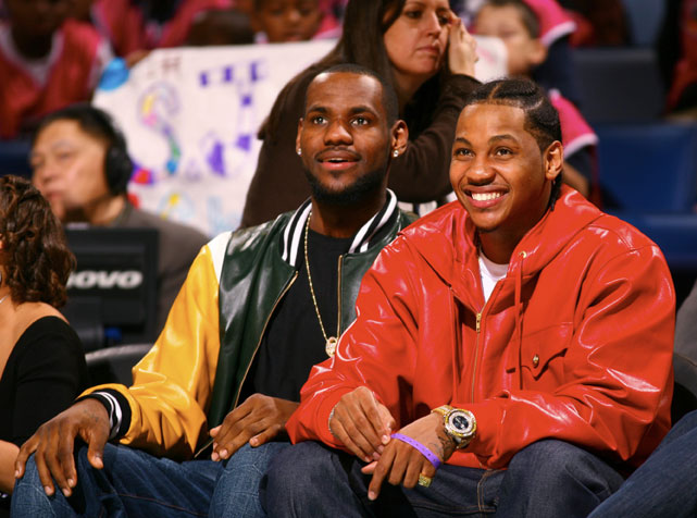 James and Anthony take in the 2008 Rookie Challenge & Youth Jam.