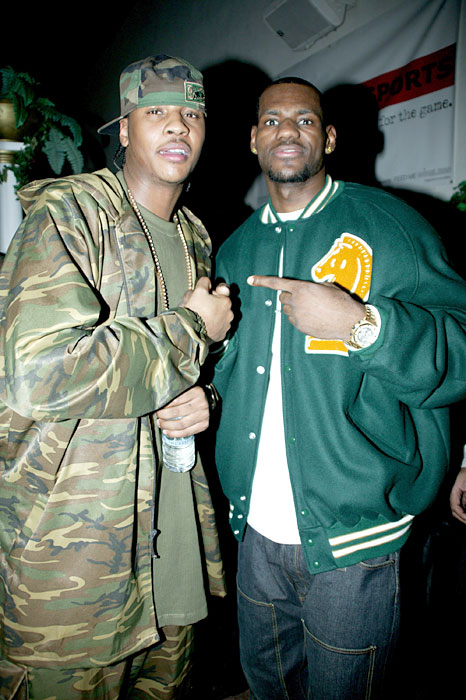 The duo arrive at the 2005 NBA All Star Party in Denver.