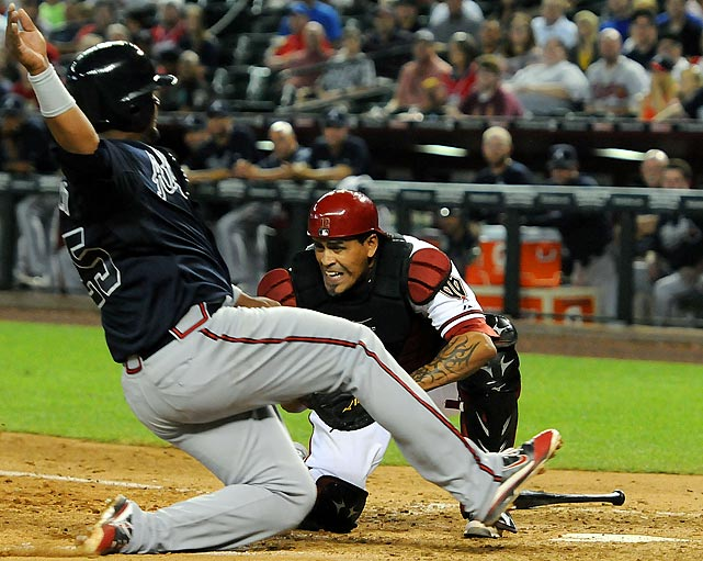 Henry Blanco tore a ligament in his thumb on August 5th against the Phillies and had surgery that forced him to miss the rest of the season. The D-backs catcher was hitting .188 with a homer and seven RBI in 21 games.