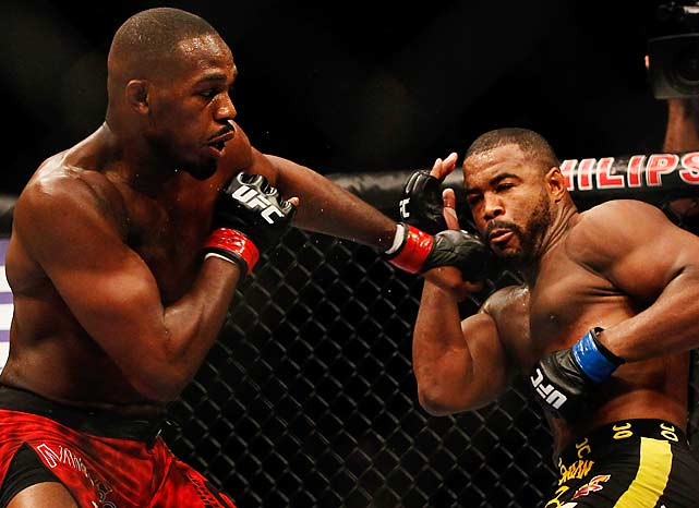 Jones also set Evans up for some of his vicious trademark elbows to the face.