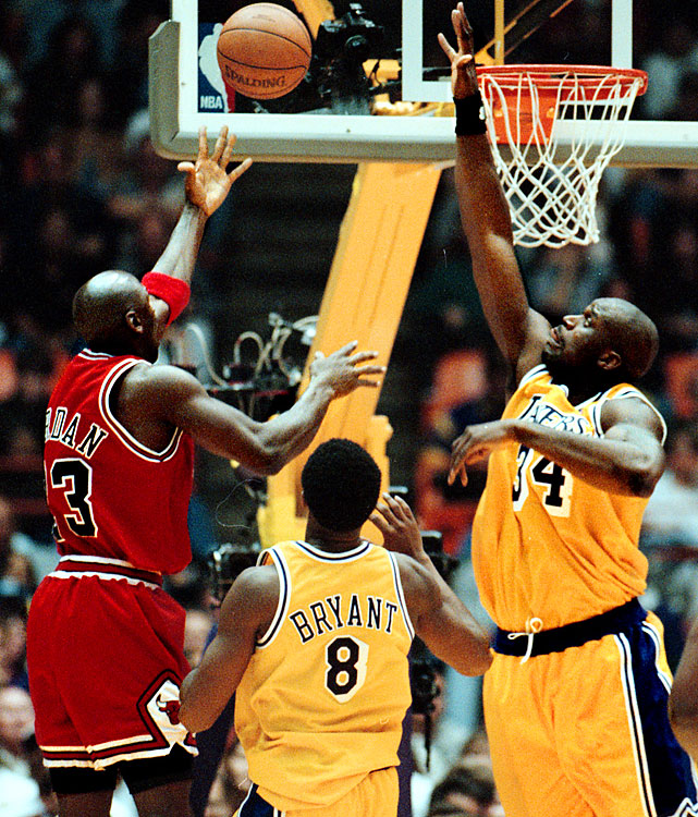 "O'Neal also came up short the previous season. Michael Jordan's record 10th and final scoring crown was his closest -- 28.74 to 28.32 over Shaq. After Jordan finished his season with a 44-point effort, it came down to the Lakers' finale. O'Neal needed 59 points. He scored 33. ""I've already won a scoring title,"" O'Neal told the <italics>Associated Press </italics>after falling short. ""I want that jewelry. That's all I want."" He wouldn't get it. Jordan's Bulls won their sixth championship that season."