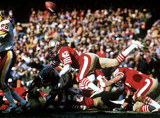 Lott's ball-hawking skills combined with his punishing style made him one of the greatest defensive backs in NFL history. <bold>His Credentials: </bold> Ten-time Pro Bowl selection, eight-time All-Pro, four-time Super Bowl champion, named to NFL's All-Decade Team for the 1980s and 1990s, member of NFL's 75th anniversary team, tied for sixth all-time in career interceptions (63), ranked No. 11 on NFL's list of 100 greatest players, inducted into Hall of Fame in 2000 <bold>Others in Consideration: </bold> James Farrior (1997, Jets); Willie Roaf (1993, Saints); Leslie O'Neal (1986, Chargers); Mike Munchak (1982, Oilers); Ottis Anderson (1979, Rams)