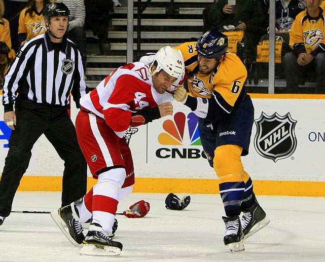 April 13, 2012 at Bridgestone Arena Detroit Red Wings vs. Nashville Predators Game Two of the Western Conference Quarterfinals