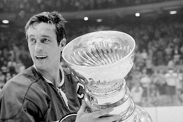 The Canadiens' Hall of Fame center sipped from the chalice in 1956-60, '65, '66, '68, '69, and '71.