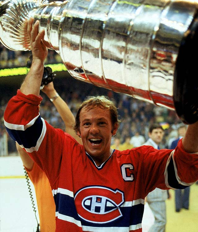 "Playing for the dynastic Canadiens certainly increased one's haul of silverware. The legendary ""Roadrunner"" won his in 1965, '66, '68, '69, '71, '73, and '76 through '79."