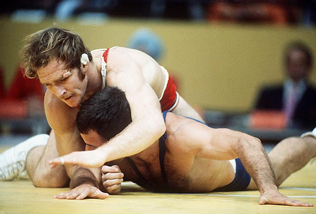 Dan Gable (top) is one of the best-known names in wrestling, both nationally and internationally. At the 1972 Olympics in Munich, Gable won six straight matches and the gold medal without giving up a single point to an opponent.
