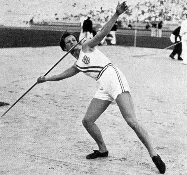 Babe Didrikson (later Babe Didrikson Zaharias) is commonly known as one of the best female athletes of the 20th century. From a young age she excelled in athletics and proved that girls could also be accomplished athletes. At the 1932 Games in Los Angeles, Didrikson won gold in the 80-meter hurdles and the javelin throw, and took silver in the long jump.