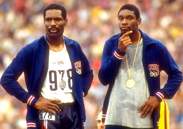 "In 1972, Vincent Matthews (right) and Wayne Collett finished 1-2 in the 400 meters at the Munich Games, bringing the gold and silver back to the U.S. But during the medal ceremony, the two men slouched over, talked and fidgeted as the U.S. national anthem played. When the anthem ended, they left the medal podium to the sound of boos. Calling their actions a ""disgusting display,"" the IOC barred the sprinters from the Games. ""I couldn't stand there and sing the words because I don't believe they're true,"" Collett said. He later told the  Los Angeles Times : ""I love America. I just don't think it's lived up to its promise. I'm not anti-American at all. To suggest otherwise is to not understand the struggles of blacks in America at the time."""