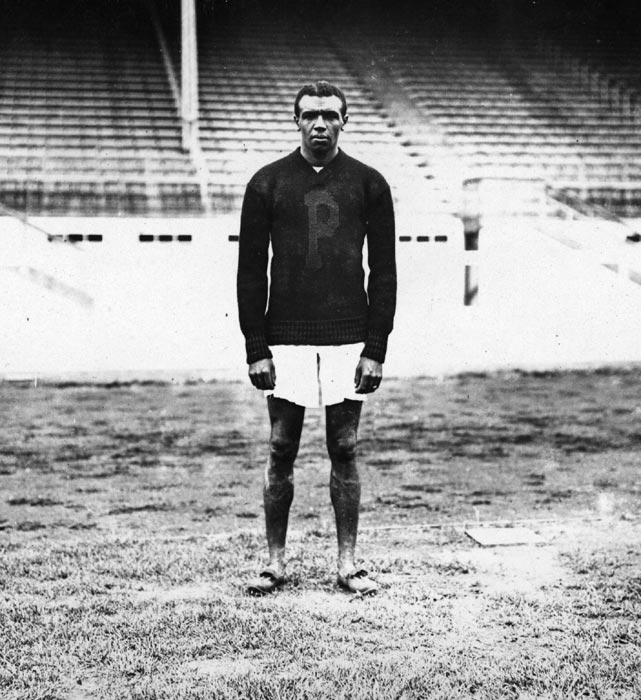 Shortly after he graduated from Penn, John Baxter Taylor traveled to the 1908 Games in London with a chance to win a medal in two events: the 400 and the 4x400 meters. The U.S. boycotted the final of the former race due to a dispute, but in the 4x400, Taylor captured gold as a member of the relay team to become the first African American to ever win gold. It would be his only Olympic gold, however, as he died of typhoid fever less than five months after the Games.