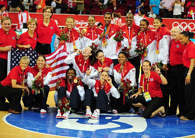 "In late August 2008, the U.S. women's basketball team trounced Australia 92-65 to win the gold medal, their fourth in four Games. It was a dominating performance by one of the most dominant teams in Olympic history. One constant throughout the U.S.'s reign was the play of Lisa Leslie, and Beijing was no exception as Leslie averaged 10.1 ppg and 7.0 rpg. ""She is a major reason why basketball in the U.S. is what it is today,"" said Sue Bird. ""That's 16 years -- that's incredible to stay at that level and be the pillar of the team and to have four golds. I'm not sure anyone will beat that."""