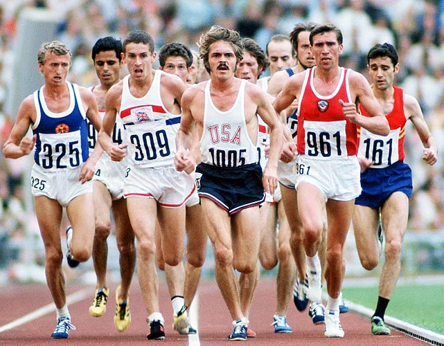 A distance-running legend, Steve Prefontaine held the American record in the 5,000 meters entering the 1972 Olympics. Pre, as fans in Eugene, Ore., affectionately called him, loved to push the pace early and often, yet that style cost him at the Games. He boldly grabbed the lead with four laps to go in the 5,000 final but couldn't maintain it, losing out on a medal in the final few strides of the race. Three years later, Prefontaine was tragically killed in a car accident.