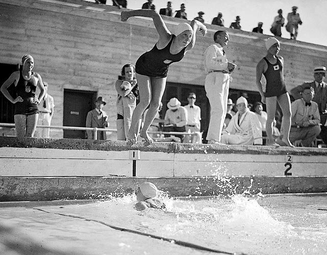 "Coming into the 1932 Olympics in Los Angeles, Helene Madison held all 16 women's world freestyle records. The 19-year-old Madison, Wisc., native continued her dominance at the Games, winning gold in the 100-meter free, 400 free and 4x100 freestyle relay. ""Queen Helene,"" as sportswriters called her after the Games, went pro following her 1932 performance, which prevented her from participating in future Olympics."