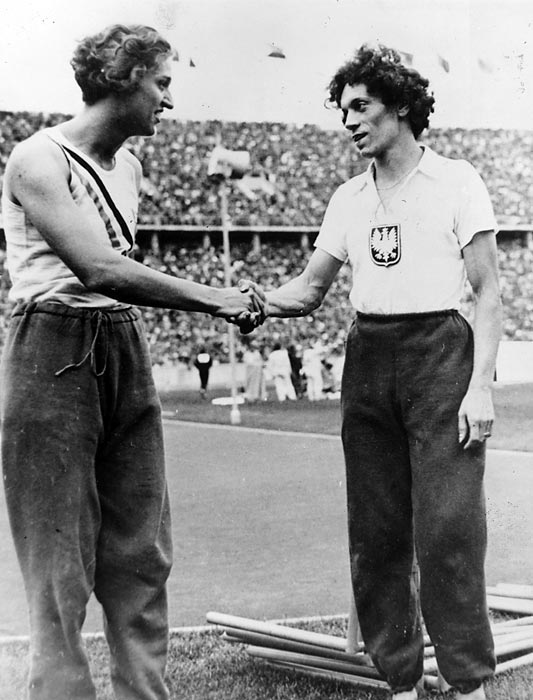 Helen Stephens (left), a strong sprinter in the 1930s, bested the world record holder Stanislawa Walasiewicz (Stella Walsh) to take gold in the women's 100 meters at the 1936 Olympics in Berlin. Later, after rumors swirled that both athletes were in fact men, officials performed tests to determine their gender. They found that Stephens was female, but Walasiewicz, by then-Olympic rules, was not biologically female. The IOC, however, declined to strip Walasiewicz of any of her medals.