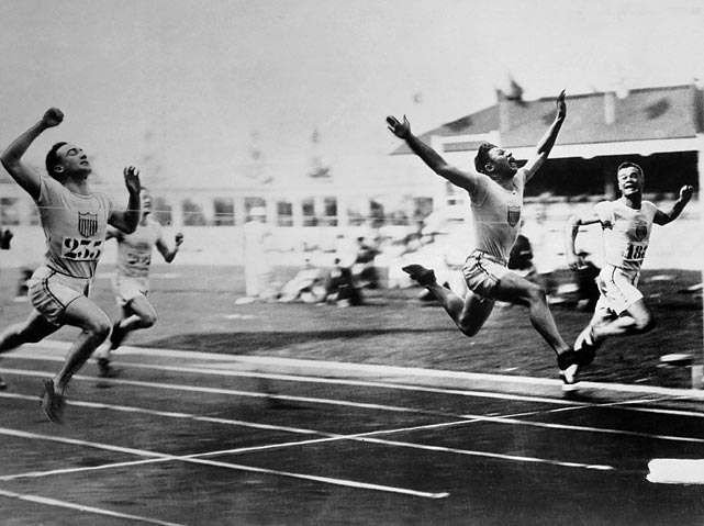 After serving in the U.S. Marines during World War I, Charley Paddock competed in the 1920 Olympics as part of the track and field team. While there, the Gainesville, Texas, native turned heads with his unusual finishing style, leaping toward the finish line ahead of his competition. The style worked. Paddock took home gold in the 100 meters and the 4x100 relay and silver in the 200 meters.