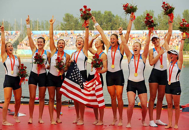 "When the U.S. women's eight boat entered the water in Beijing in 2008, they had history on their minds. ""We were just on a mission,"" Mary Whipple, the coxswain of the boat, said. At the end of that day it was mission accomplished. The women's eight led wire-to-wire, their victory over second-place Netherlands never in doubt, and captured the first U.S. women's eight Olympic gold in 24 years."