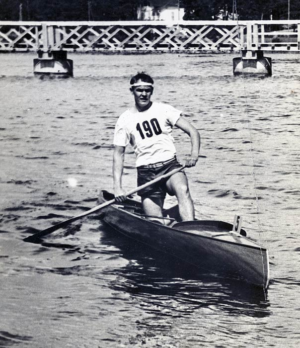 "In 1924, Bill Havens, an Olympic rowing favorite, skipped the Paris Games to witness the birth of his son, Frank. Twenty-eight years later, Frank won the Olympic gold his father had sacrificed. Frank won the grueling 10,000-meter canoe event in 57:41 to break the world record previously set by Czechoslovakia's Frantisek Capek. Upon winning gold, Frank sent his father a telegram that ended, ""I'm coming home with the gold medal you should've won."""