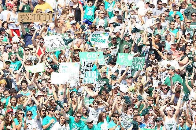 Loyola's fans were out in full force, cheering on the Greyhounds as they won their first lacrosse NCAA title.